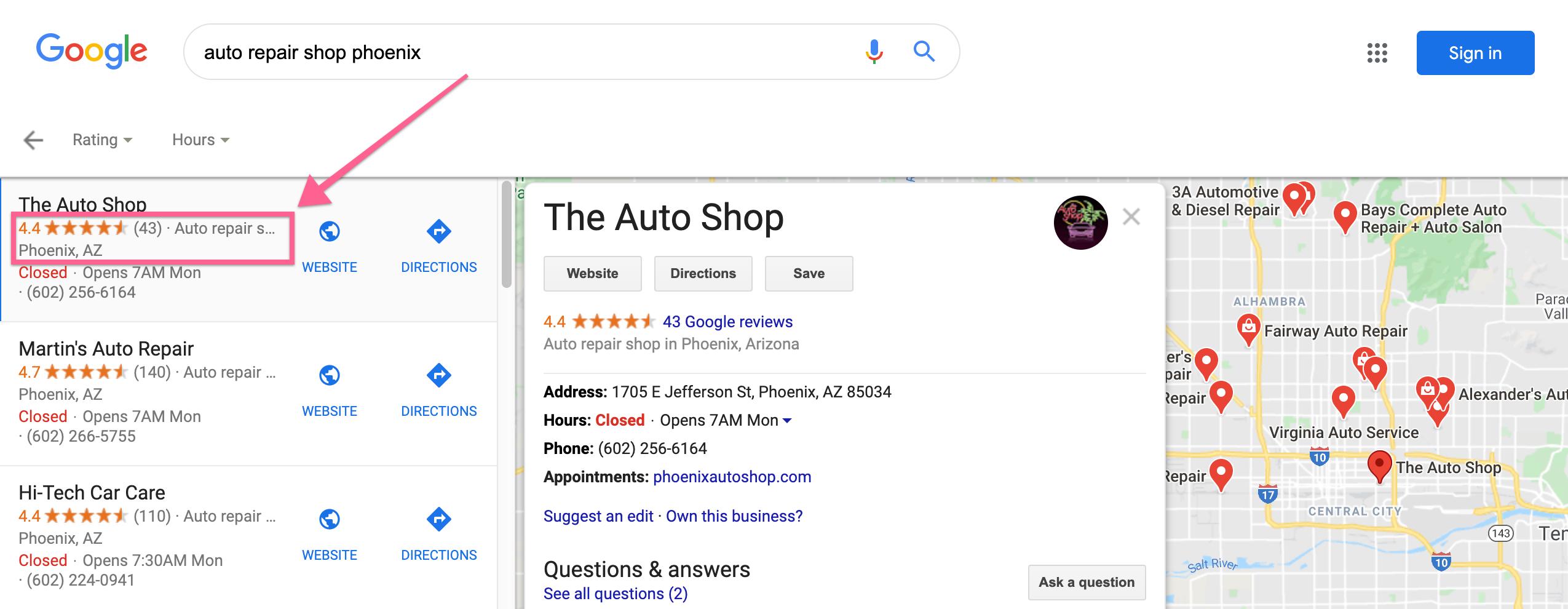Auto repair shops in Pheonix, AZ