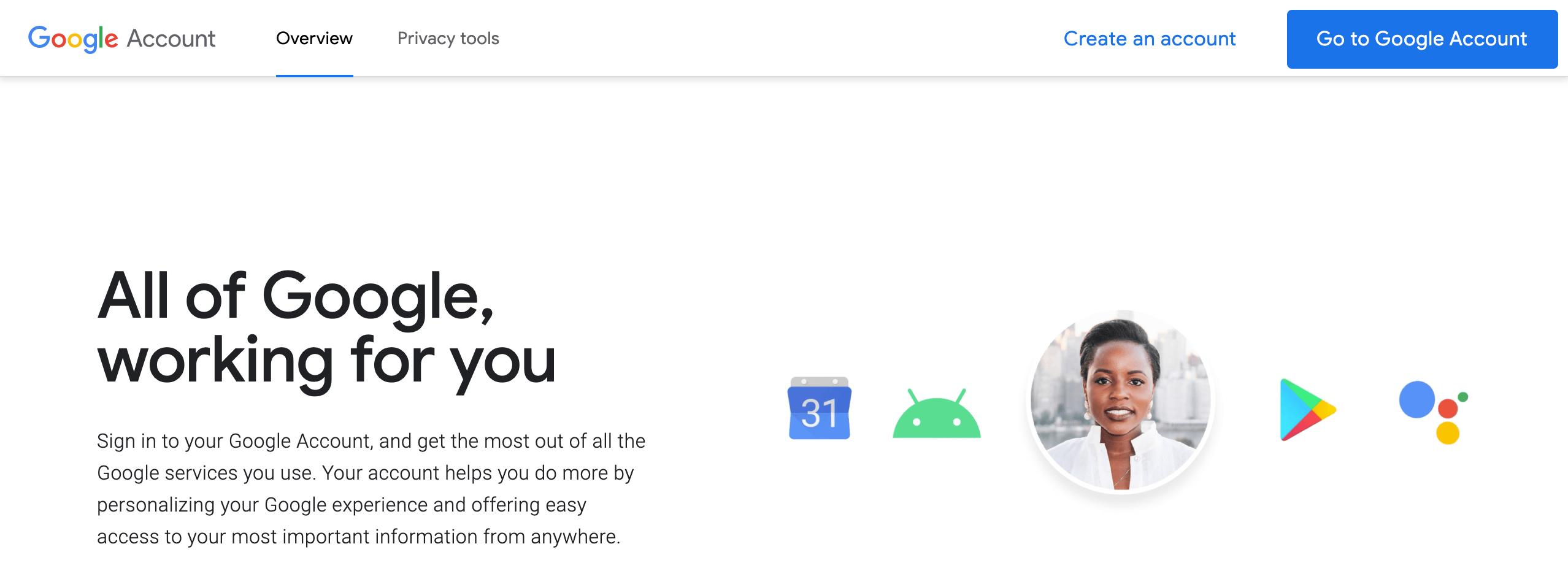 Google Account login screen.